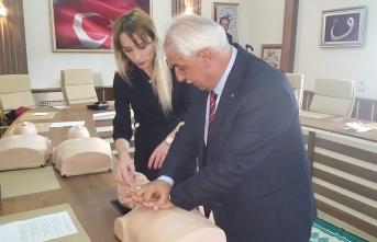 İl MEM personeline ilk yardım eğitimi verildi