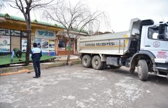 Karasu'da terminal çevre düzenleme çalışmaları devam ediyor