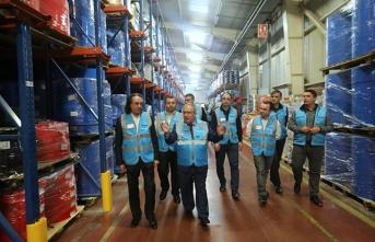Vali Nayir'den Derya Büro Firmasına Ziyaret