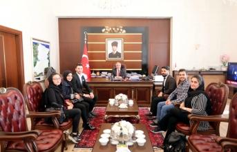 Afganistan Öğrenci Topluluğu Üyelerinden Vali Nayir'e Ziyaret
