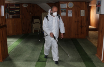 Ferizli'de dezenfekte seferberliği