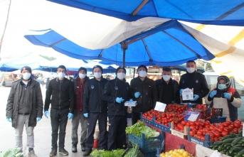 Maske ve eldiven Ferizli Belediyesinden