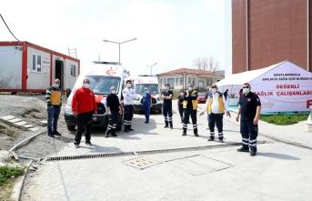 Ambulans araçları için park oluşturuluyor