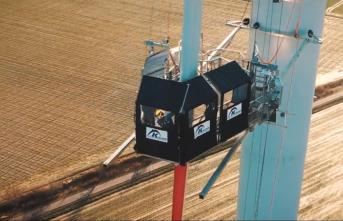 Gelişmiş rüzgar türbin kanadı erişim teknolojisine sahip k-bp-4 türkiye'de!
