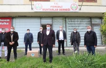 Hendek ve Ferizli ilçelerinde maske dağıtımı sürüyor