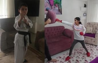 Karasu'lu Karatecilerin Evde Spor Keyfi