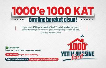 Yetim Vakfı'ndan 1000 aileye destek