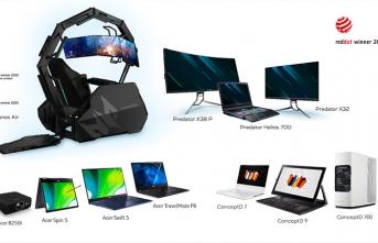 Acer, 11 Adet Red Dot Ürün Tasarımı Ödülü