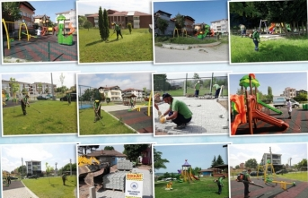 Adapazarı Parkları Çocuklar İçin Hazırlanıyor