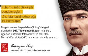 İstanbul'un fethi ve atatürk detayı