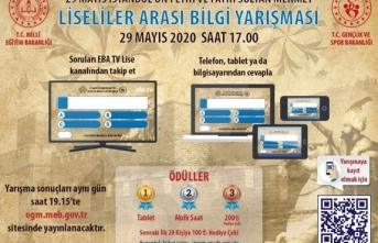 İstanbul'un Fethi Yarışması'nda Türkiye 8.si oldu.