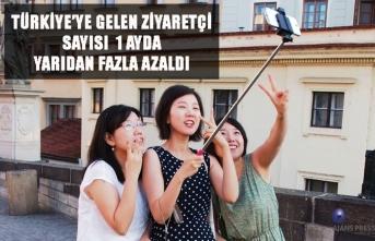 Türkiye'ye gelen ziyaretçi sayısı 1 ayda yarıdan fazla azaldı
