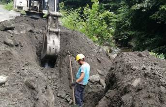 Mahmudiye'ye yeni kanalizasyon hattı