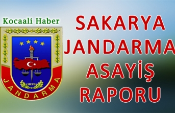 28 - 30 Ağustos 2020 Sakarya İl Jandarma Asayiş Raporu