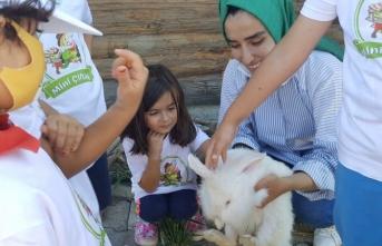 Çocuklar doğa ve hayvan sevgisini Mini Çiftlik'te öğreniyorlar