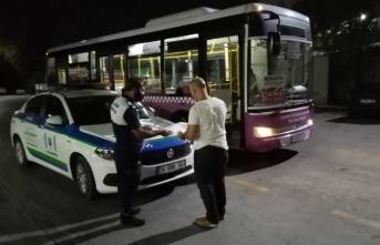 Kurallara uymayan otobüsün çalışma izni iptal edildi