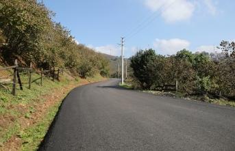 Şehrin kuzeyinde asfalt çalışmaları devam ediyor