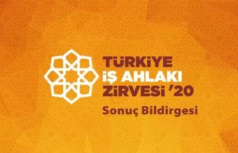 Türkiye İş Ahlakı Zirvesi'20 Sonuç Bildirgesi