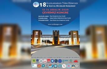 18. Uluslararası Türk Dünyası Sosyal Bilimler Kongresi Çevrimiçi Olarak Düzenlenecek