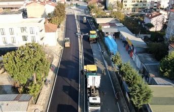 20 ayda 700 bin ton asfalt