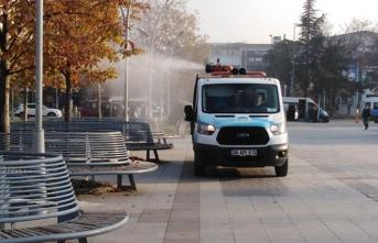 Büyükşehir dezenfekte çalışmalarını şehir genelinde sürdürüyor