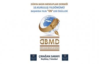 """Dünya Basın Mensupları Derneği; 10. Yılını """"Yılın ENleri Ödül Töreni"""" ile Çırağan'da kutlayacak"""