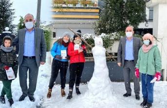 Başkan Kılıç çocukların kar sevincine ortak oldu