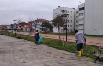 Karasu Belediyesi Sokağa Çıkma Yasağında İş Başında