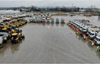 83 araç 180 kişilik ekiple karla mücadeleye hazırız