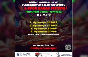 SAÜ'nün İlk Büyük Çaptaki E-Spor Festivali Başlıyor