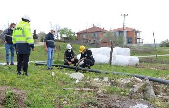 Sakarya Büyükşehir Sinanoğlu'nda içmesuyu şebekesini yeniliyor