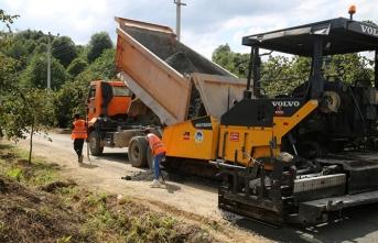 Beton yol çalışmaları Kocaali'de başladı