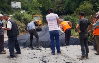 Hendek'te iki grup yolu daha asfaltlandı