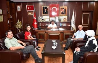 Türkiye Şampiyonu Aydan Demiröz'den İshak Sarı'ya Ziyaret