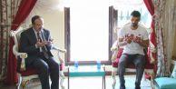 Diyanet İşleri Başkanı Görmez, Sofuoğlu'na taziye ziyaretinde bulundu