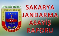 10 - 14 Ağustos 2018 Sakarya il Jandarma Asayiş Raporu