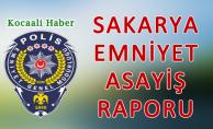 13 Eylül 2018 Sakarya İl Emniyet Asayiş Raporu
