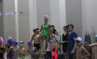 Kobaş Yüzmenin terfi sınavında 120 sporcu ter döktü
