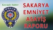 18 - 19 Ekim 2017 Sakarya il Emniyet Asayiş Raporu