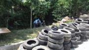 Sapanca'yı besleyen dereden 250 lastik çıkarıldı