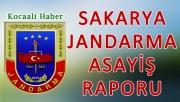 15 - 16  Ağustos 2018 Sakarya il Jandarma Asayiş Raporu