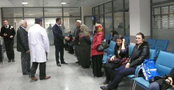 Vekil Hasan Ali Çelik; hastane ve hastaları ziyaret etti