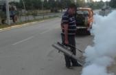 Karasu'da, Yağış Sonrası İlaçlama Çalışmalarına Hız Verildi