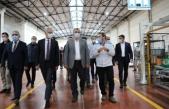 Vali Çetin Oktay Kaldırım Hendek 2. OSB'de Temaslarda Bulundu