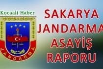 12 - 14 Ocak 2018 Sakarya il Jandarma Asayiş Raporu