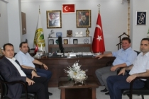 Kaymakam ve müfettişlerden başkan Gündoğdu'ya ziyaret