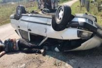 Karapürçek'te Traktörü sollarken takla attı!