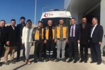 112 ekibi sınıra desteğe gitti