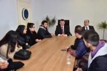 Başkan Sarı, Üniversiteli öğrencilerle bir araya geldi