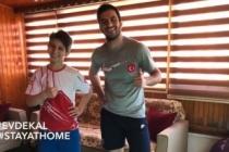 Olimpik Sporcular ile evde spor yap Türkiye
